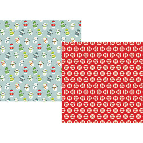 Sub Zero Collection Let It Snow 12 x 12 Double-Sided Scrapbook Paper by Simple Stories