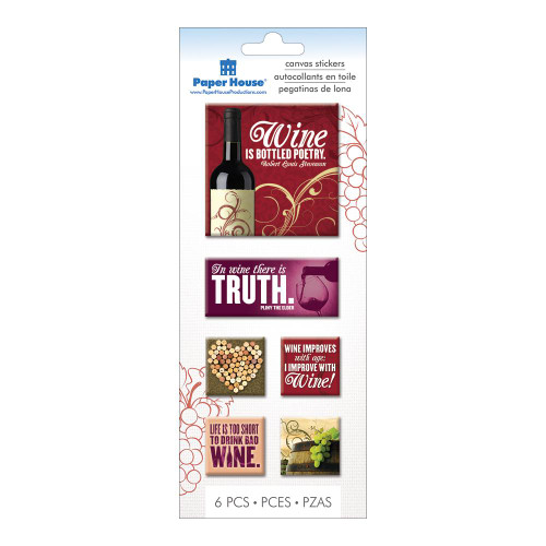 Wine Collection Canvas Embellishments by Paper House Production