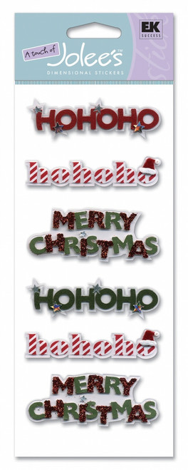 Christmas Words Scrapbook Embellishment by A Touch of Jolee's by EK Success