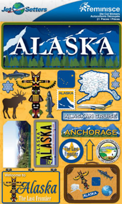The State Line Collection Alaska 3-D Jetsetter Scrapbook Embellishment by Reminisce