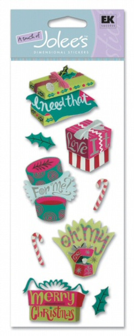 Christmas Gifts Scrapbook Embellishment by EK Success