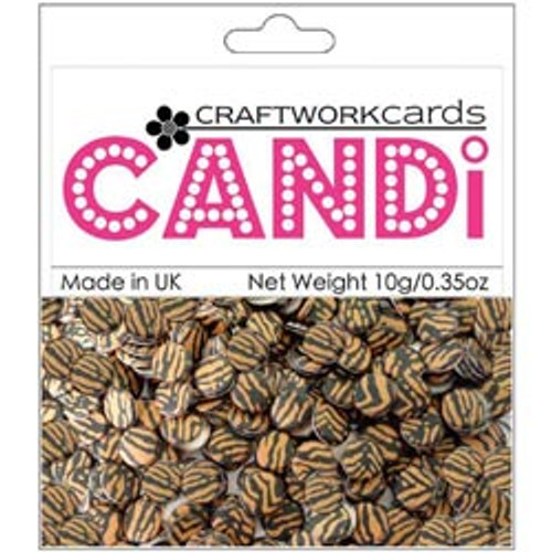 """Candi Collection Tiger 3/8"""" Candi Dots by Craftworkcards - 10 grams (.35 oz)"""