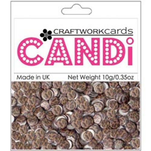 """Candi Collection Cheetah 3/8"""" Candi Dots by Craftworkcards - 10 grams (.35 oz)"""