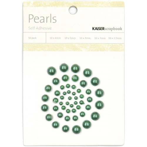 Green Pearl Embellishments by Kaisercraft - Pkg. of 50