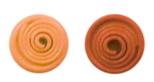 Apricot Crazy Coil Brads by Karen Foster Design - Tube of 44