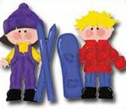 Snow Fun Winter Stick Kids by Scrapbook Customs