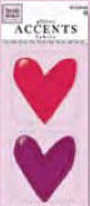 Valentine's Day Collection Fabric Glitter Heart Accents by Heidi Grace