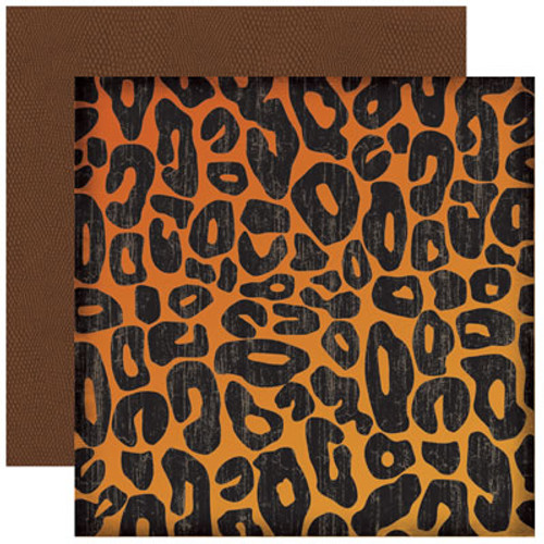 Wild Things Collection Cheetah Print 2-Sided 12 x 12 Scrapbook Paper by Reminisce