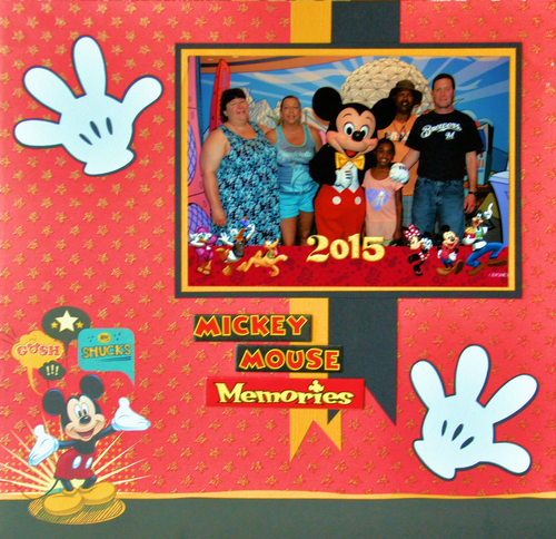Mickey Mouse Layout by SSC Designs