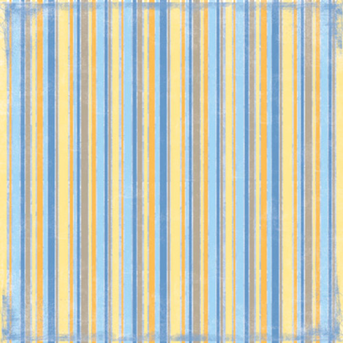 Tropical Collection Stripe 12 x12 Scrapbook Paper by Scrapbook Customs