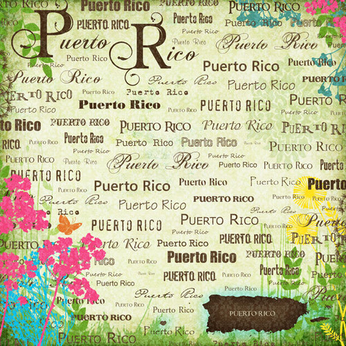 Paradise Collection Puerto Rico 12 x 12 Scrapbook Paper by Scrapbook Customs