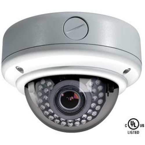 Weather Rated Vandal X True Day/Night IR Dome Camera + Heater (White)