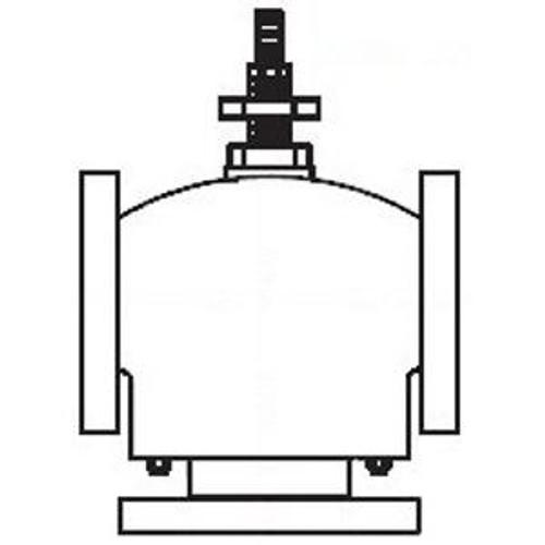 Schneider Globe Valve - 2-1/2 in, 3W Mix, Flg, BR, 74 Cv