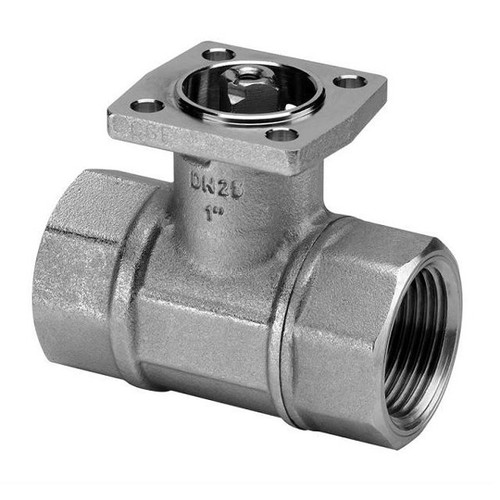"""Belimo 2-way 1/2"""" Ball Valve, Cv 3 w/ Stainless Steel Ball and Stem"""