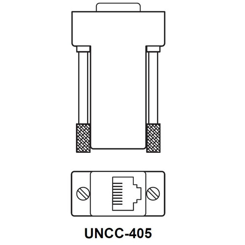 I/A Adapter, RJ-45 to BD-9, for Serial Port to DTE Device