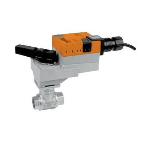 "Belimo Valve Assembly - 2-way CCV, SS Trim, 2"", Cv 29"" with Non-Spring Return, 180 in-lb, On/Off/Floating, 24V"