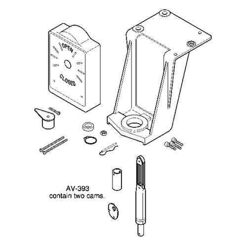 AV-393 Schneider Globe Valve Linkage Kit