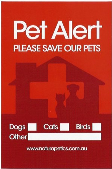 good PETS INSIDE STICKERS x 4 with BONUS 'Pet Home Alone' WALLET CARDS x
