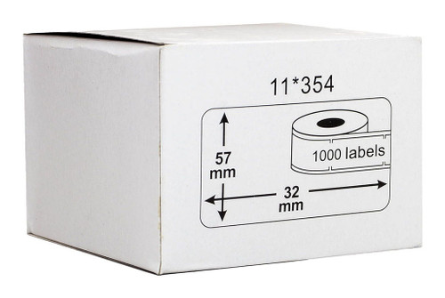 Dymo Compatible LW Labels 57 x 32mm 1000pcs/per roll - Removable