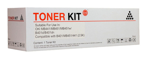 OKI Compatible B401/MB451 Black Toner Cartridge (44992407)