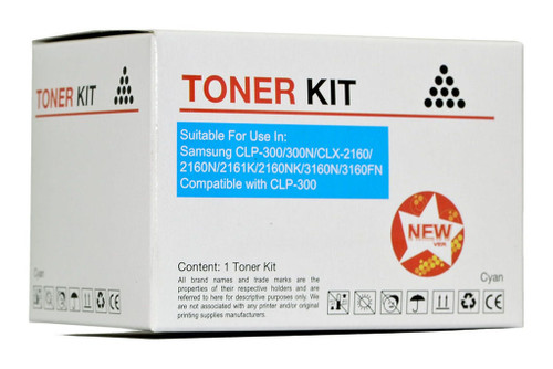 Samsung Compatible CLP-300 Cyan Toner Cartridge