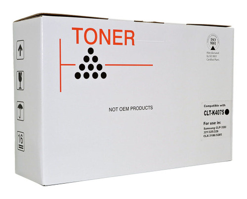 Samsung Compatible CLTK407S Black Toner Cartridge