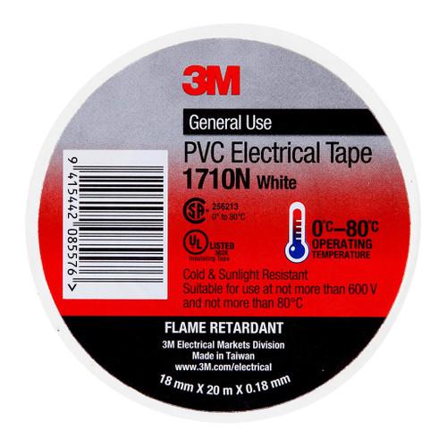 3M Electrical Tape 1710N-WH PVC 18mm X 20m White