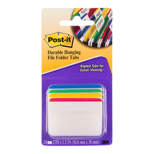 3M Post-It Filing Tab Durable 686A-1 W50 X D38mm Hang File Pkt/24