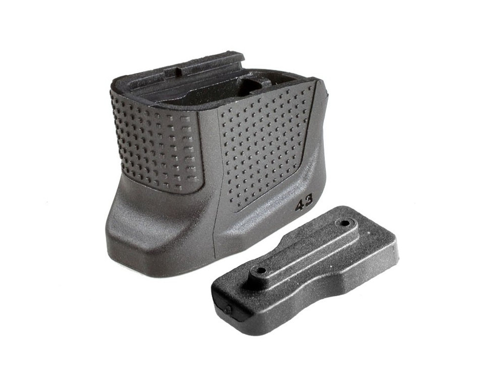 Strike Industries Enhanced Magazine Plate Glock 43 +2 Capacity EMP-G43-BK G43  9mm 9 mm Luger Handgun extended extension
