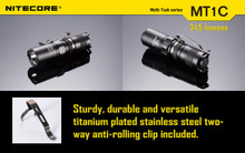 Nitecore MT1C 345 Lumen LED Flashlight NITE-MT1C Lum lm Flash Light lite CR123 CR 123 123a CR123a EDC Every day carry