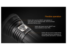 Fenix LD75C Flashlight Multi-Color 4200 Lumen LED 18650 or CR123A FX-LD75C 6942870303079