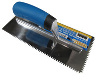 "3/16"" V Notch Stainless Steel Trowel"