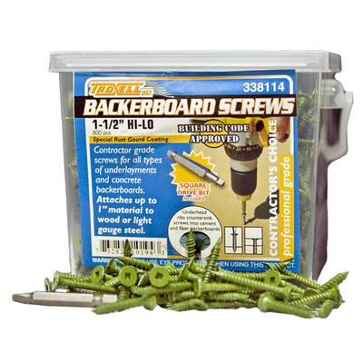 Backerboard Screws - 800 Pack