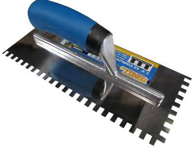 """3/8"""" Square Notch Stainless Steel Trowel"""