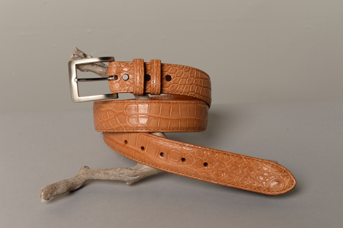 Alligator Belt - Saddle Matte
