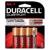 QU1500B4Z10 Duracell Battery, Alkaline, Size AA, 4pk, 14pk/bx, 4 bx/cs (UPC# 66217) Sold as cs