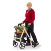 Comodita Prima Heavy-Duty Rolling Walker Rollator with Comfortable 15-Inch Wide Nylon Seat