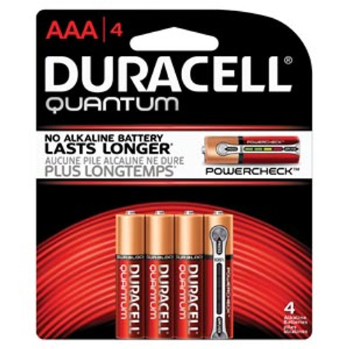QU2400B4Z10 Duracell Battery, Alkaline, Size AAA, 4pk, 18pk/bx, 3 bx/cs (UPC# 66248) Sold as cs