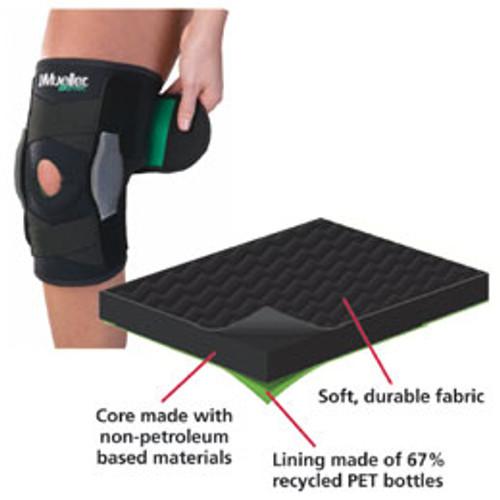 192e88ec8f Patterson Medical. 081546191 Patterson Medical Mueller Green Adjustable  Hinged Knee Brace