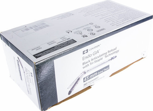 EGIA45AXT Covidien Endo GIA™ 45mm Articulating Extra-Thick Reload with Tri-Staple™ Technology, Black, Staple Size 4mm, 4.5mm, 5mm, 6 per box