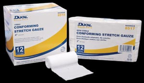 "8513 Dukal Corporation Conforming Stretch Gauze, 2"" Sterile, 12 rl/bg, 8 bg/cs Sold as cs"