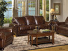 Leather Sofa, Love seat, Chair, Ottoman, Rocking Recliner and Power Recliner.