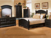 Shown in Ebony finish. Cape Cod Panel Bed