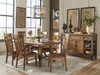 River table and chair set. Rustic weathered Saddle finish on Oak