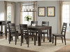 """Salem 42"""" x 72"""" table with drawers. Brushed Cocoa finish on wire brushed Acacia"""