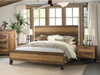 Urban Rustic Bed and Night Stand