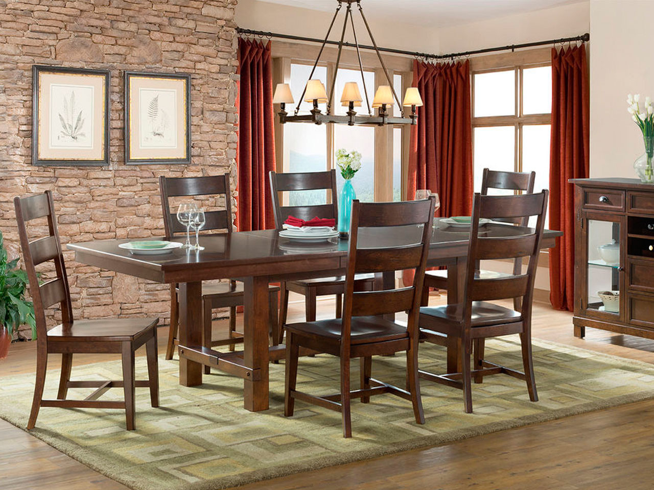 Star Valley Ladder Back Side Chair U0026 Table Set Star Valley Collection By  Intercon Offers Quality