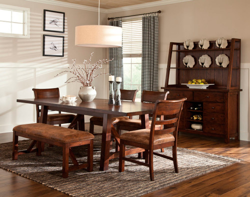 The Bench Creek Collection by Intercon offers a rustic yet refined look to homes of any style. The solid wood collection offers quality and function that will last for generations.