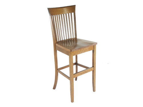 Stationary Loft Barstool w/ Wood Seat