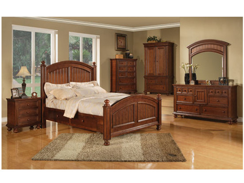 Cape Cod Chocolate bedroom set